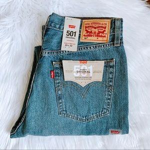 NWT Levi's 501 Original High Rise Distressed Jeans